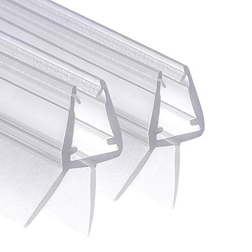 Wellba Premium Duschtür Dichtung (0x 00cm) für 6mm 7mm 8mm Glastür Stärken | Wasserabweisende Duschdichtung oder Duschkabinen-Dichtung mit optimal angeordneten Gummilippen