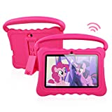 Kids Tablet PC Android 8.1 OS 7 Inch Full HD Display Tablets for Kids 1GB RAM 16 GB Storage Quad-Core 1.3Hz WiFi Tablet Soft Shock&Kid-Proof Case (Pink)
