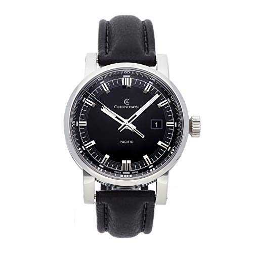 Chronoswiss Grand Pacific Mechanical (Automatic) Black Dial Mens Watch CH2882-85 (Certified Pre-Owned)