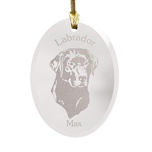 (GiftsForYouNow Dog Breed Personalized Glass Christmas Ornament, Labrador Retriever)