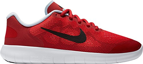 Girl's Nike Free RN 2017 (GS) Running Shoe (Red, 7) by NIKE