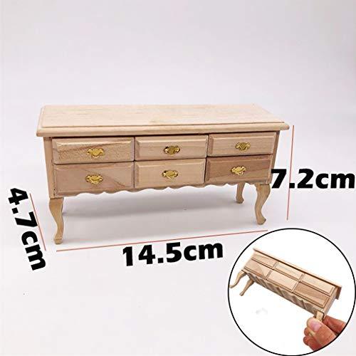 LtrottedJ Mini Dollhouse Furniture Desk Miniature Living Room Kids Pretend Play Toy for $<!--$12.88-->