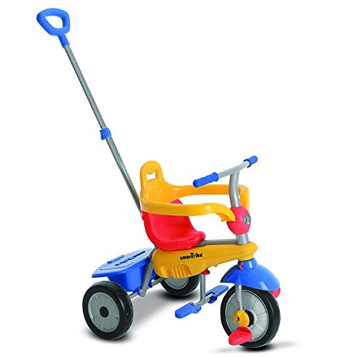 smarTrike Breeze Baby Tricycle/Trike, Yellow/Red/Blue, Multicolor (Kiddo Smart Design 4 In 1 Trike)