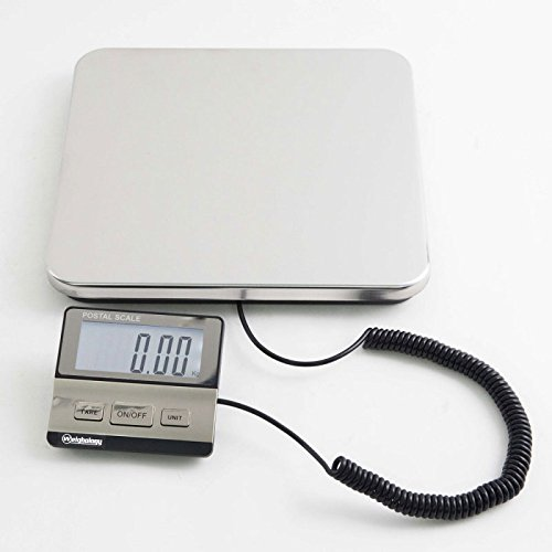 Weighology Heavy Duty 440 Lbs Digital Postal Shipping Scale Stainless Steel w/ AC Adapter and Batteries Included Heavy Duty Package Scale