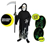 Spooktacular Creations Grim Reaper Glow in The Dark Deluxe Phantom Costume for Child (M(8-10))