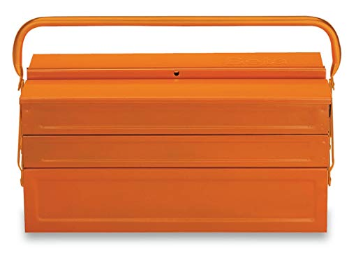 C20-FIVE-SECTION CANTILEVER STEEL TOOL BOX, ORANGE, EMPTY