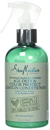 Shea Moisture Zanzibar Marine Complex Age-Defy & Color Protect Leave-In Conditioner for Unisex, 8 (Color Protect Leave)