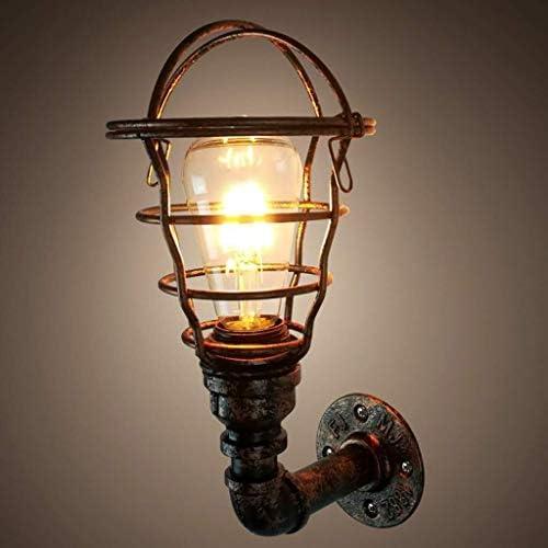 WANG XIN Industrial Light Parete, Steampunk Metal Net Paralume della Lampada da Parete Interni d\'Epoca Presa Regolabile for Garage Porta Porch corridoio (Nessuna Lampadina)