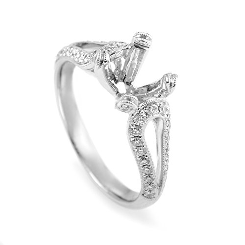 (Simon G. 18K White Gold Diamond Engagement Ring Mounting)