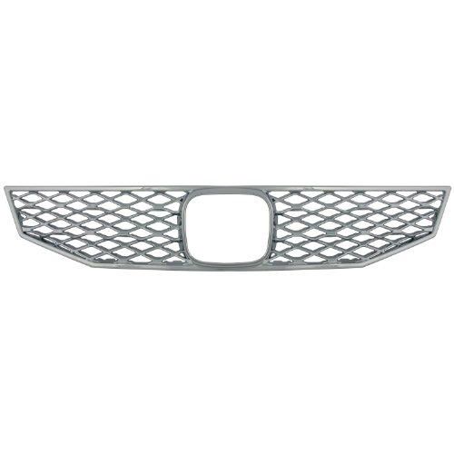 hrome Plated ABS Snap-in Imposter Grille Overlay, 1 Piece ()