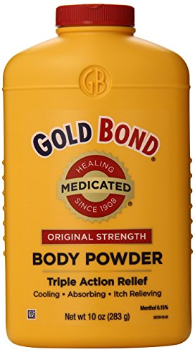 Adult Powder - Gold Bond Medicated Powder, 10 Ounce Containers (Pack of 3), Helps Soothe and Relieve Skin Irritations and Itching, Cools, Absorbs Moisture, Deodorizes