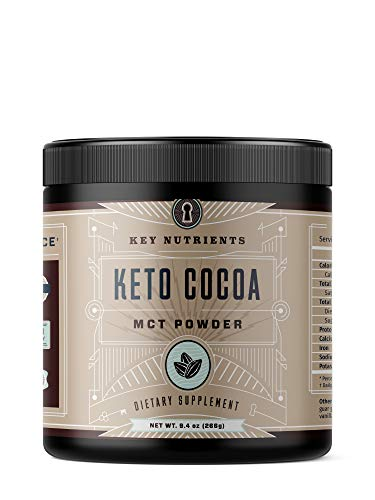 Keto Cocoa, Keto Hot Chocolate: MCT Oil Powder for Low Carb & Ketogenic Diets, Derived from Coconuts, Keto Chocolate Drink (20 Servings)