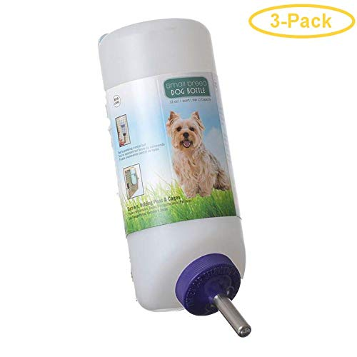 Lixit Small Dog Water Bottle 32 oz - Pack of 3 by Lixit