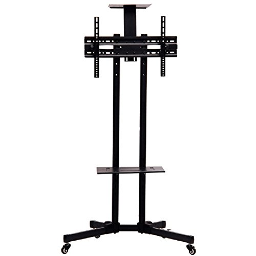 Redredfire Stable TV Mobile Rack Stand Holder with Wheels for LCD LED Plasma Flat Panels Fit For 32inch to 65inch by Redredfire
