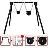 """Highwild AR500 Steel Shooting Target System (1 Stand, 2 Chain Sets & 4""""+6"""" Gongs)"""