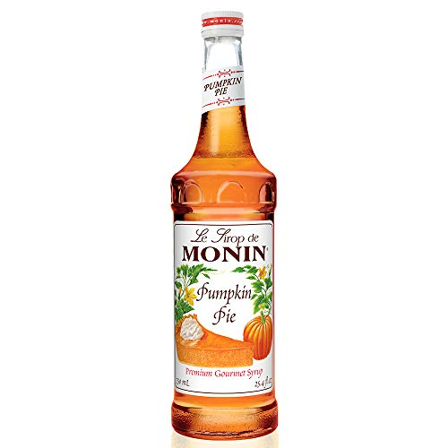 (Monin - Pumpkin Pie Syrup, Pumpkin and Baked Pie Crust Flavor, Natural Flavors, Great for Hot, Iced, or Frozen Lattes, Frappes, Shakes, and Martinis, Vegan, Non-GMO, Gluten-Free (750 ml))