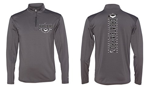 Men's Cap Create A Pro Wrestling Academy Quarter Zip Pull Over Extra Large by Manateez APPAREL