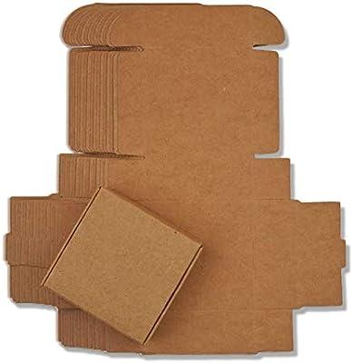 ZANGAO 10pcs / Lot 12sizes Caja de Papel Kraft pequeña, Caja de jabón Hecha a Mano de cartón marrón, Caja de Regalo de Papel Artesanal Blanca, Caja de joyería de Embalaje Negra: