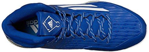 adidas Rendimiento Hombre Poweralley 3Mid Zapatillas de béisbol Collegiate Royal/White/Grey Metallic