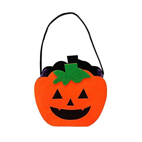 wsloftyGYd Halloween Non-Woven Bag Ghost Pumpkin Skull Felt Fabric Ornament Props Gift Bag Pumpkin