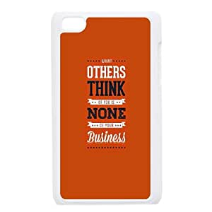 iPod Touch 4 Case White quotes others think none of your business GY9039339