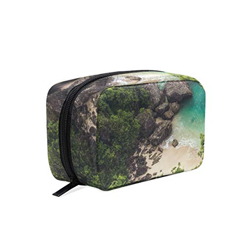 Makeup Bag Cosmetic Pouch Clutch Beautiful Sea Coast Rock Forest