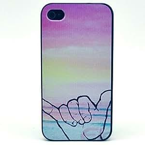 GONGXI- El Sunset Finger configuración de signos duro caso para iPhone 4 / 4S