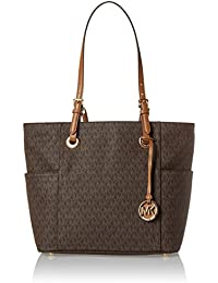 Michael Kors Tote Bag On Sale in Outlet, Jet Set Travel, Plum, Leather, 2017, one size