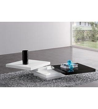 Table Et Basse Design Blanc Noir Marbella LaquéCuisine SVzMUp