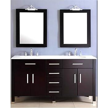 Virtu USA UMGES Ava Inch Double Sink Bathroom Vanity Set - Sink for bathroom vanity