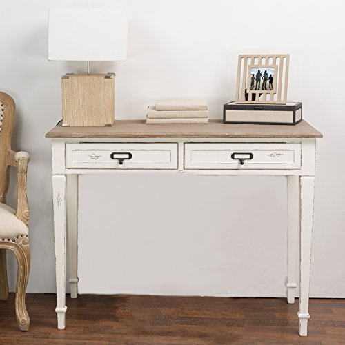 Baxton Studio Dauphine Traditional French Accent Writing Desk, White ()