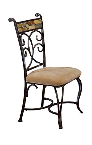 Hillsdale Furniture 4442-802 Dining Chair Set, Black Gold/Slate Mosaic (Chair Hillsdale Fabric)