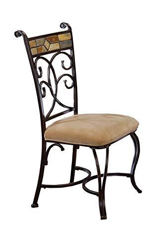 Hillsdale Furniture 4442-802 Dining Chair Set, Black Gold/Slate Mosaic