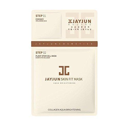 (Jayjun 10 Piece Skin-Fit Aqua Brightening Mask Pack)
