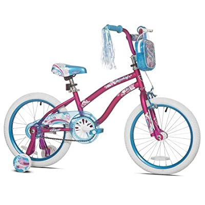 "Sturdy and Stylish Kent 18"" Mischief Girls Bike, With Translucent Blue Chain Guard, Handlebar Mounted Tote Bag and Padded Seat, Great Starter Bike for Young Lady, Pink, Great Gift Idea : Sports & Outdoors"