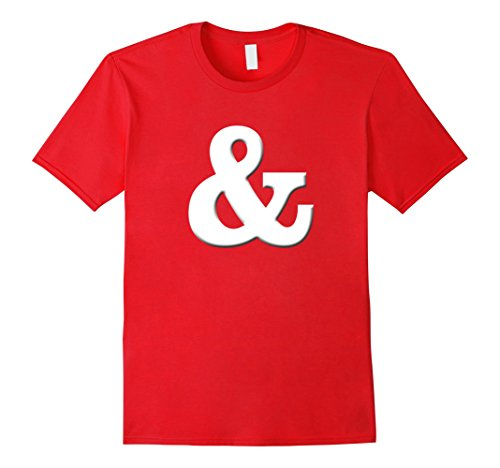Mens Letter Ampersand & halloween tee shirt Small (Letter T Costumes Ideas)