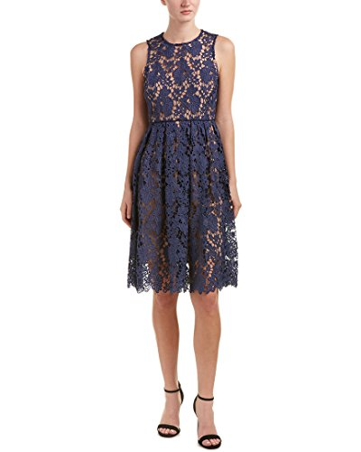 Contrast Lining (Donna Morgan Women's Sleeveless Lace Midi with Contrast Lining Cornflower 8)