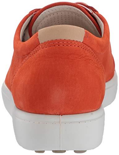 ECCO Women's Women's Soft 7 Sneaker, Fire Orange, 38 M EU (7-7.5 US)