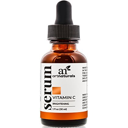 ArtNaturals Anti-Aging Vitamin C Serum - 1 Fl Oz - with Hyaluronic Acid and Vit E - Wrinkle Repairs Dark Circles, Fades Age Spots and Sun Damage - Enhanced 20 Percent Top Vitamin C Super Strength
