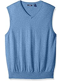 Men's Soft Fine Gauge V-Neck Solid Sweater Vest