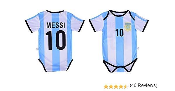 Athletics Rhinox Leo Messi #10 Argentina Soccer Jersey Baby Infant /& Toddler Onesie Romper Premium Quality