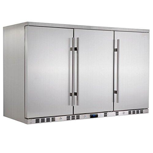 Beverage Center Solid Door (KingsBottle 260 Can Outdoor Beverage Cooler, Solid Stainless Steel Door)