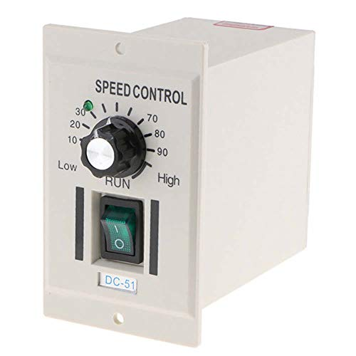 (AC 110V 400W Knob Motor Speed Controller DC 0-90V Variable Adjust Lathe Control)