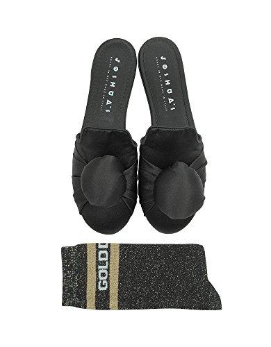 Sanders Fabric Black 10370SOWGOLDDIGGERSOCKS Sandals Joshua Women's 6dwxnYC