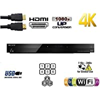 SONY BDP-S7200 Dual Core 2D/3D 2K/4K Multi System Blu Ray Region Free DVD Player - Plays Zone A,B,C Region 1 2 3 4 5 6 0 on Any TV - PAL/NTSC Built-in Wi-Fi - Comes with 110-240 Volt to use World Wide & 6 Feet HDMI Cable