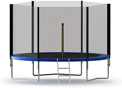 Aleko TRP10 - Trampolín con Malla de Seguridad y Muelle y Escalera de 10 pies, Color Negro y Azul: Amazon.es: Deportes y aire libre