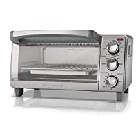 BLACK DECKER 4 Slice Toaster Oven With Natural Convection Stainless Steel