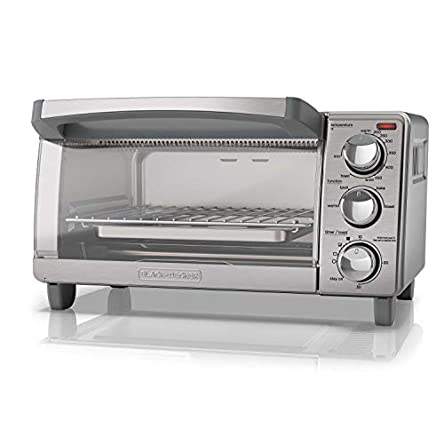 BLACK+DECKER 4-Slice Toaster Oven with Natural Convection,...