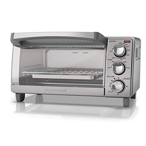 BLACK+DECKER  4-Slice Toaster Oven with Natural Convection, Stainless Steel, TO1760SS (Black & Decker Under Counter Toaster Oven)