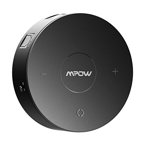 Mpow Bluetooth 4.1 Receiver / Transmitter with aptX Low Latency in RX / TX, Bluetooth Wireless Audio Adapter with Digital Optical SPDIF for TV and Home Stereo System, Black